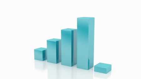 graph : Growing Bar Chart Stock Footage