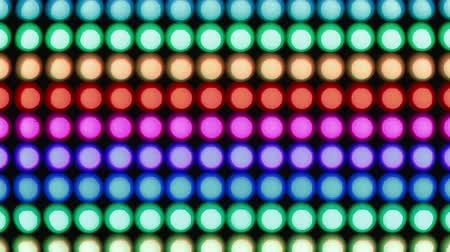 照らさ : Horizontal rainbow bokeh lights effect background for party