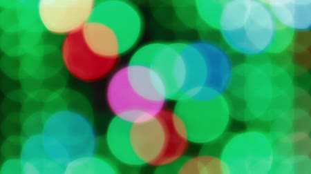 bolha : Colorful large bokeh lights background for party Stock Footage