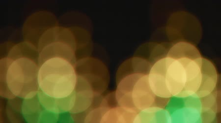 bolha : Yellow green bokeh lights effect background for party Stock Footage