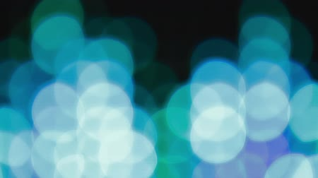 bolha : Turquoise bokeh lights effect background for party Stock Footage