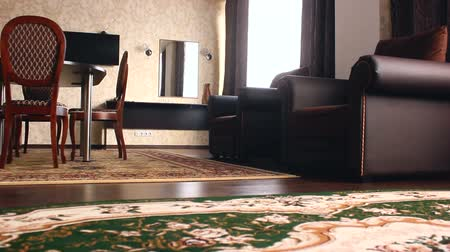 sala de estar : chair  room Interior with chairs and carpets hotel beautiful luxury Vídeos