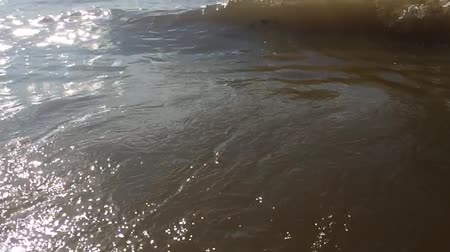 strong waves ocean water sea nature slow motion video. beautiful sea the landscape Vídeos