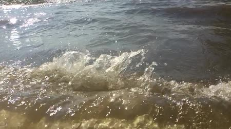 strong waves ocean sea nature slow motion video. beautiful sea the landscape water