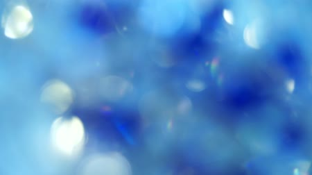 Blue color abstract background with blurred defocus bokeh light