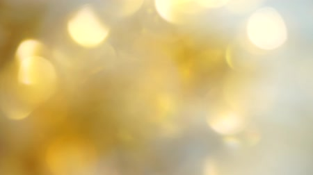 Gold bokeh of lights for background abstract