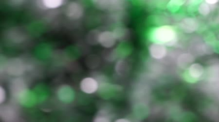 Green Abstract blured light bokeh lights rotation background