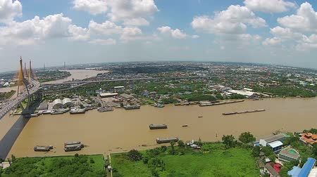 samut : Bhumibol Bridge also casually call as Industrial Ring Road Bridge, Samut Prakarn,Thailand