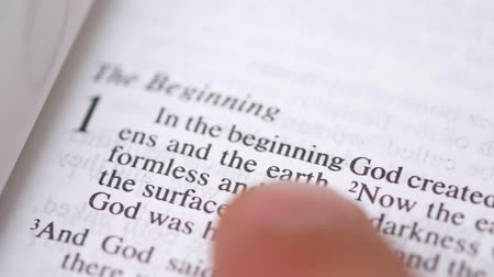 verse : Reading Holy Bible on sunday readings Stock Footage