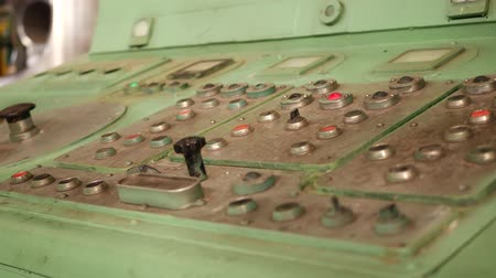 индикатор : Industrial remote control panel of machinery at factory