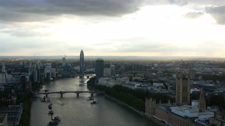 westminster : London city and Palace of Westminster and Big Ben aerial view