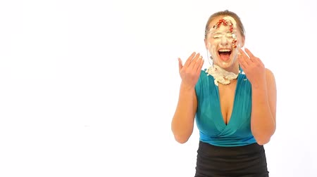 lízat : Happy Girl with Cream on her Face