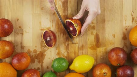 kivi : Blood Orange on a Wooden Table