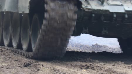 tracked : Tank Caterpillar Moving Stock Footage