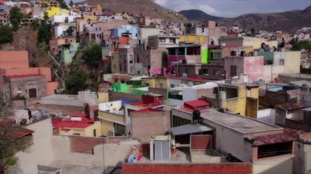 meksyk : Colorful houses of mexico Wideo
