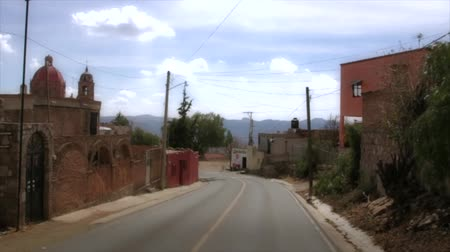 meksyk : Wonderful view of Mexican town, Guanajuato Wideo