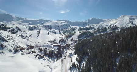 Planneralm skiing resort in Steiermark, Austria Stok Video