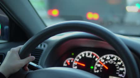 kilometer : Prefabricated car panel while driving. Stock Footage