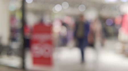 mob : shop blurred background Stock Footage