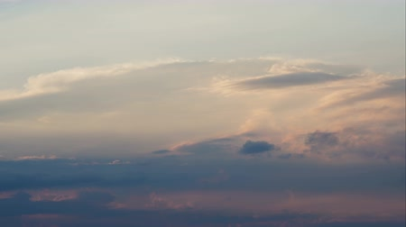 heavenly : TimeLapse. Clouds at sunset.