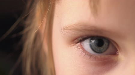 Eyes of a little girl. Close-up