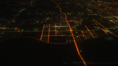 pequim : Flying over the night city. Top view of the modern metropolis Vídeos
