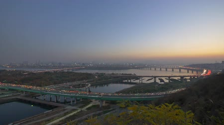 han river : Timelapse of Han River in Seoul