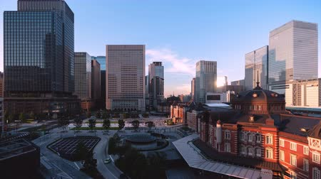 lapso de tempo : TimeLapse Scenery of Tokyo Marunouchi from day to night Fix Vídeos