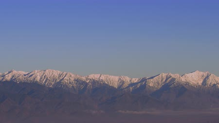 inverno : The northern Japanese alps panoramic view