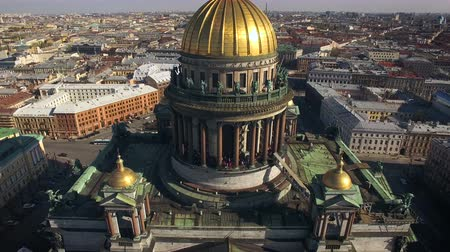 святой : Aerial view of Isaacs Cathedral in Saint-Petersburg