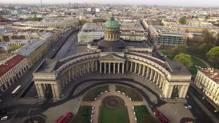 святой : Aerial view of Kazansky cathedral in Saint-Petersburg