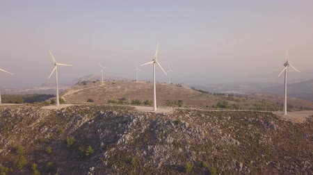 rhodes : Aerial view of wind farms