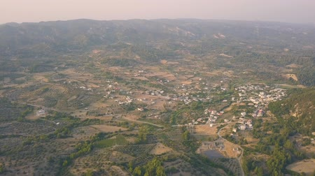 rhodes : Aerial view of countryside Stock Footage