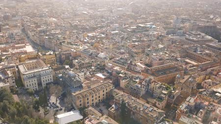 Flying above roofs of Rome