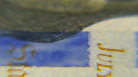 Dollars macro. Very detailed image of American money. Stock Footage