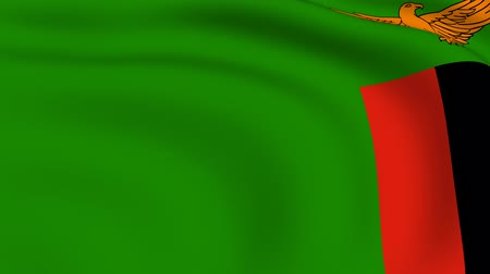 republic of zambia : Flying Flag of ZAMBIA | LOOPED |
