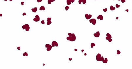 valentin nap : Red falling hearts.motion design. Valentine day background.
