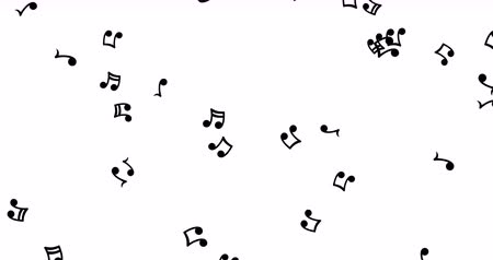 notation : Black musical notes falling down. Musical background.