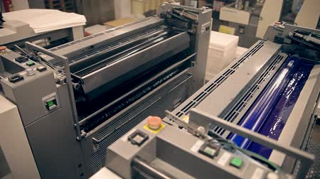 printings : Machines for offset printing Stock Footage