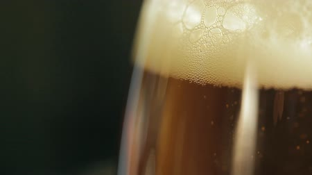 striving : Beer bubbles in a glass