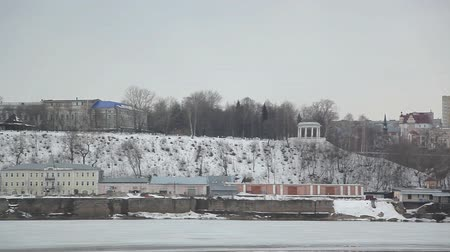 A typical Russian city in winter