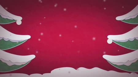 boŻe narodzenie : Christmas card with snow animation without text