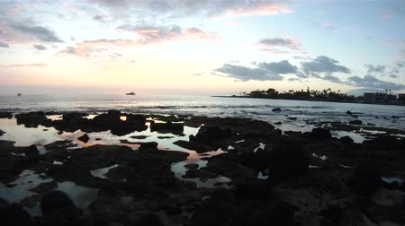 sunset sea : Beautiful sunset in Kailua-Kona on Hawaii Island.