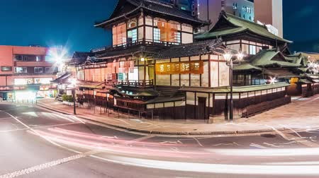 japan : Time lapse of traffic around Dogo Onsen, the ancient Japanese bathhouse