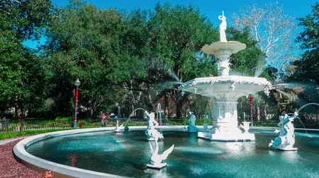 savanne : Timelapse der berühmten Forsyth Park Brunnen in Savannah, GA Videos