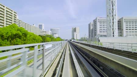perspectiva : Point of view real-time ride through Kobe Japan on the Portliner Monorail
