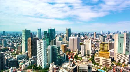 felhőzet : Time-lapse of the Tokyo skyline in the day time Stock mozgókép