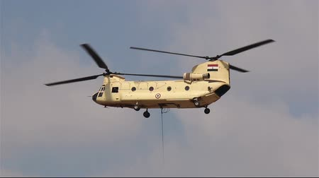 copter : Helicopter CH-47 Chinook at the airshow in Cairo.  Egypt