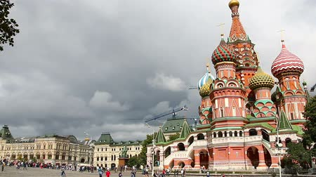 kreml : Moscow, Russia. St. Basil Cathedral, Red Square, Moscow Stock mozgókép