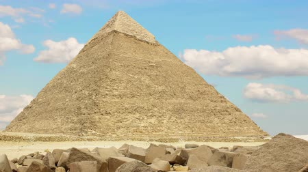 piramit : Pyramid of Khufu. Cairo. Egypt. v.2 Stok Video